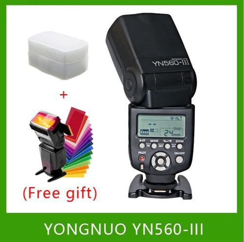 flash yongnuo yn560 iii universal para canon nikon+difusor