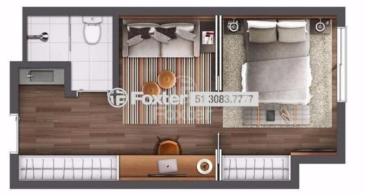 flat, 1 dormitórios, 35.27 m², av. central - 191877