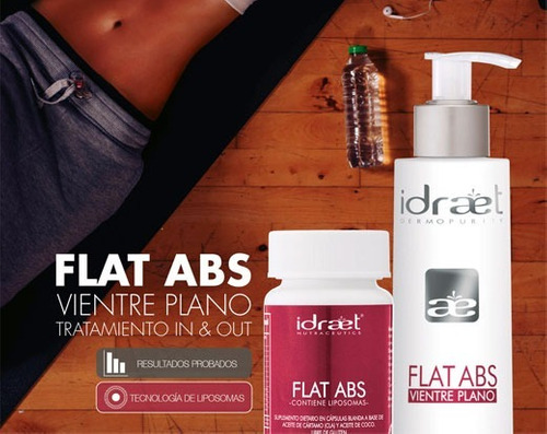 flat abs out gel reductor tensor abdomen idraet