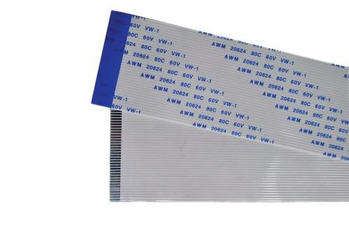 flat cable  35 vias 1mm 30 cm x 3,6 cm invertido kit 2pç