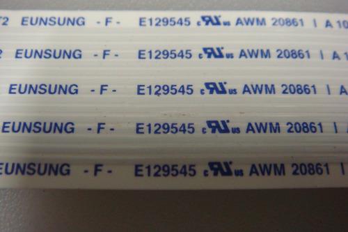 flat cable cabo flex cód. e129545 awm 20661
