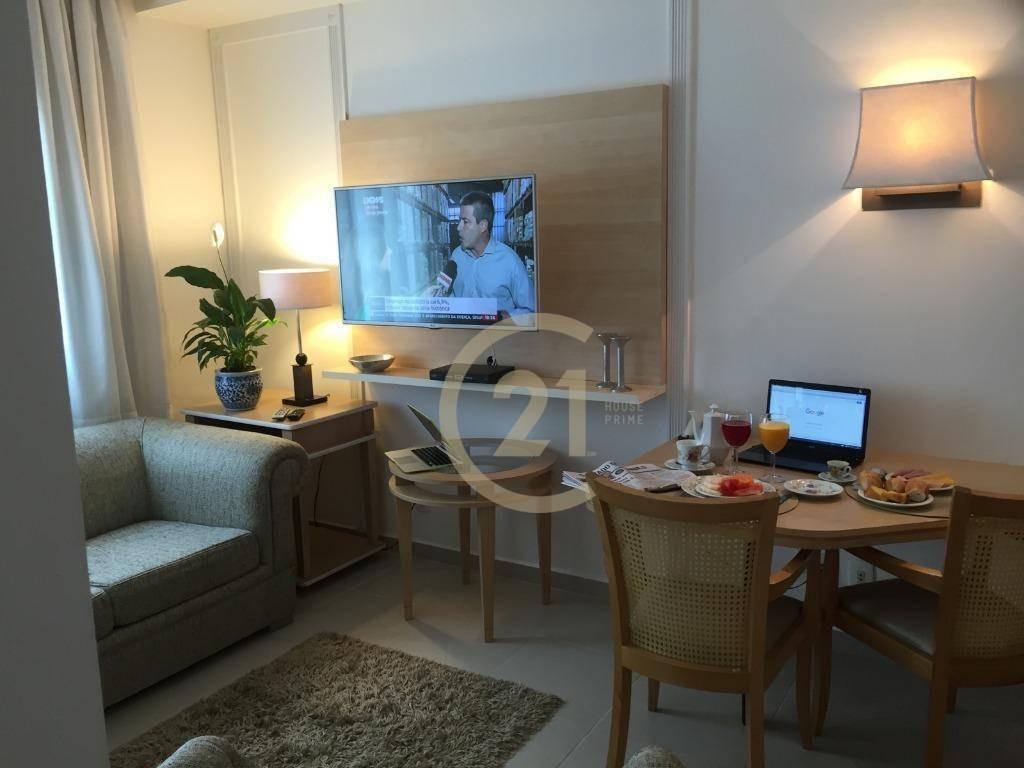 flat com 1 dormitório e 1 vaga de garagem para alugar na bela vista, 33 m² - fl0274