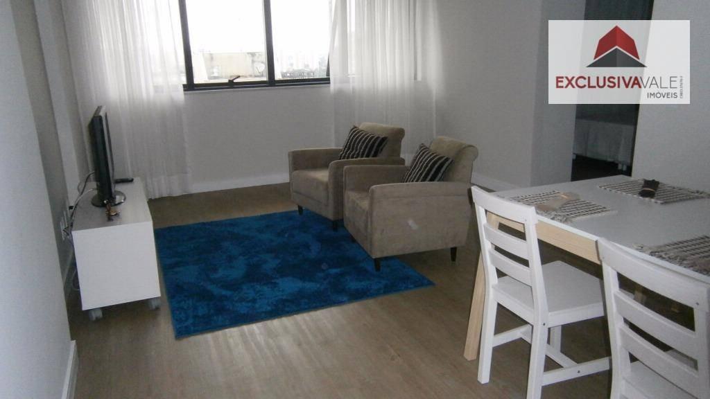 flat com 1 dormitório mobiliado para alugar, 47 m² por r$ 2.100/mês - jardim aquarius - são josé dos campos/sp - fl0009