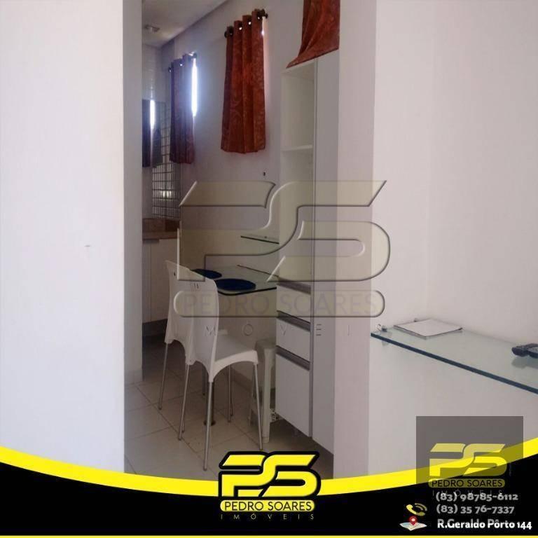 flat com 1 dormitório para alugar, 1 m² por r$ 1.600/mês - bessa - joão pessoa/pb - fl0059
