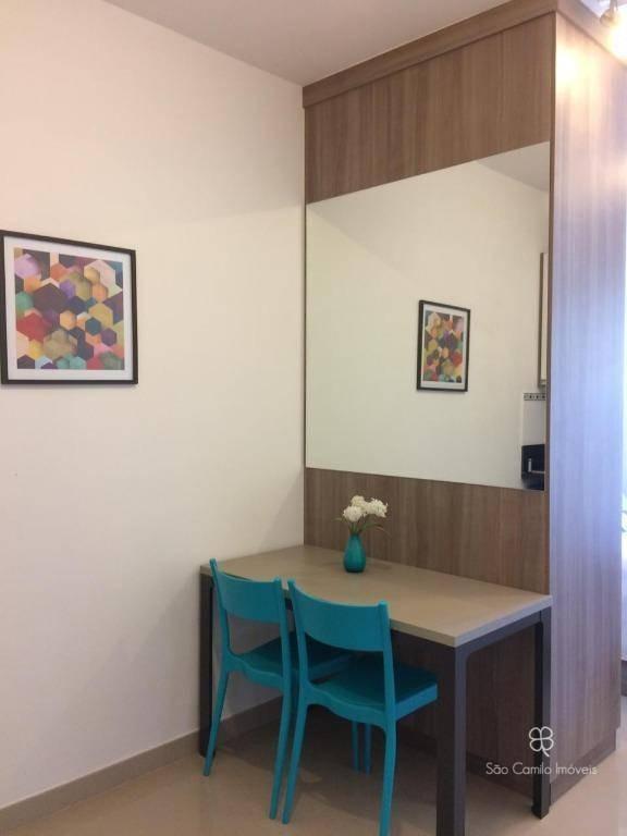 flat com 1 dormitório para alugar, 26 m² por r$ 2.107,28/mês - granja viana - cotia/sp - fl0007