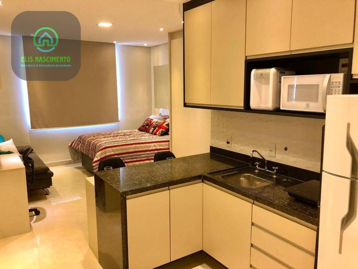 flat com 1 dormitório para alugar, 27 m² por r$ 1.900/mês - bethaville i - barueri/sp - fl0001