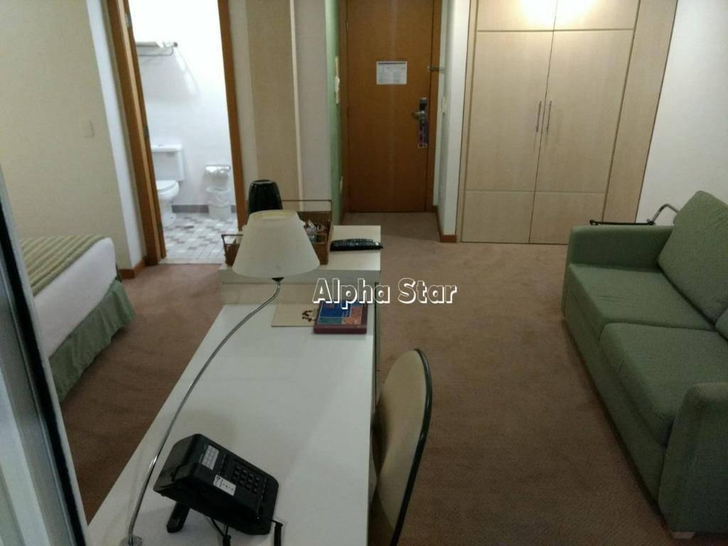 flat com 1 dormitório para alugar, 31 m² por r$ 3.000/mês - comfort suites - barueri/sp - fl0042