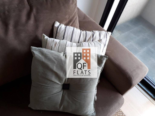 flat com 1 dormitório para alugar, 34 m² por r$ 1.100/mês - morumbi - são paulo/sp - fl1721