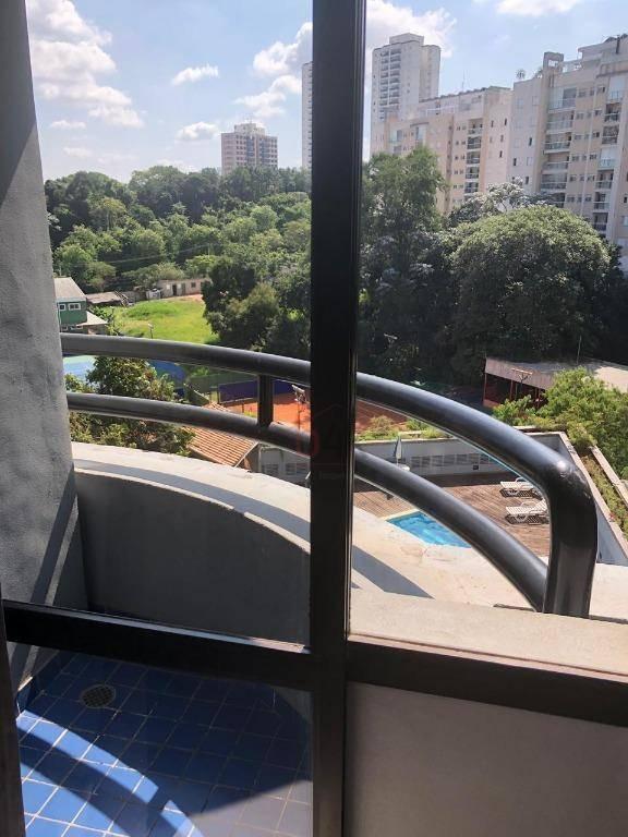 flat com 1 dormitório para alugar, 34 m² por r$ 1.577,35/mês - morumbi - são paulo/sp - fl0010