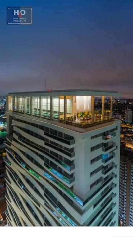 flat com 1 dormitório para alugar, 45 m² - chácara santo antônio (zona sul) - são paulo/sp - fl0012