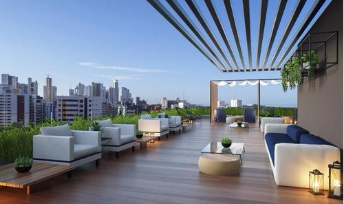 flat com 1 dormitório à venda, 27 m² por r$ 216.840 - tambaú - joão pessoa/pb - fl0069