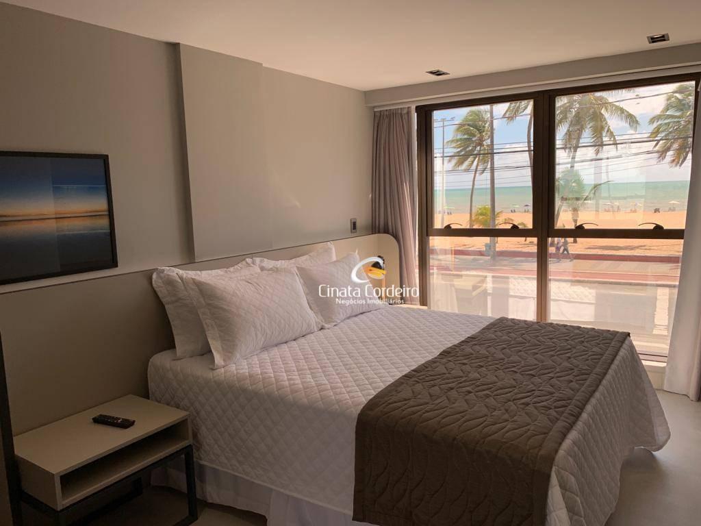 flat com 1 dormitório à venda, 27 m² por r$ 316.844,00 - cabo branco - joão pessoa/pb - fl0048