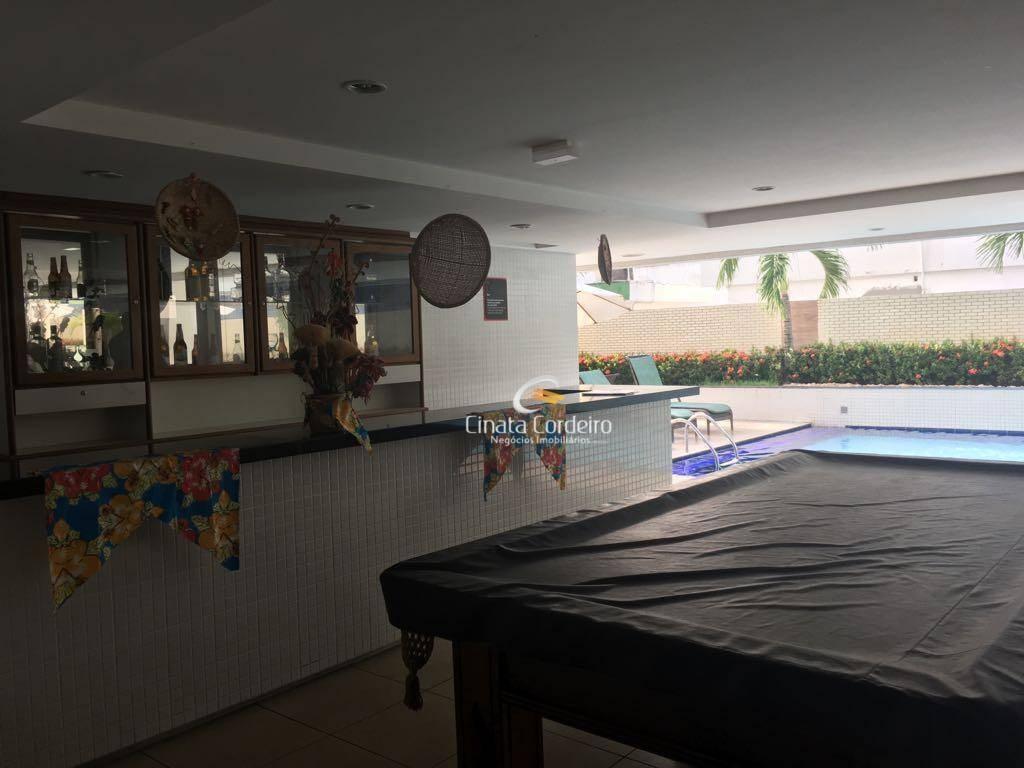 flat com 1 dormitório à venda, 30 m² por r$ 420.000,00 - tambaú - joão pessoa/pb - fl0040