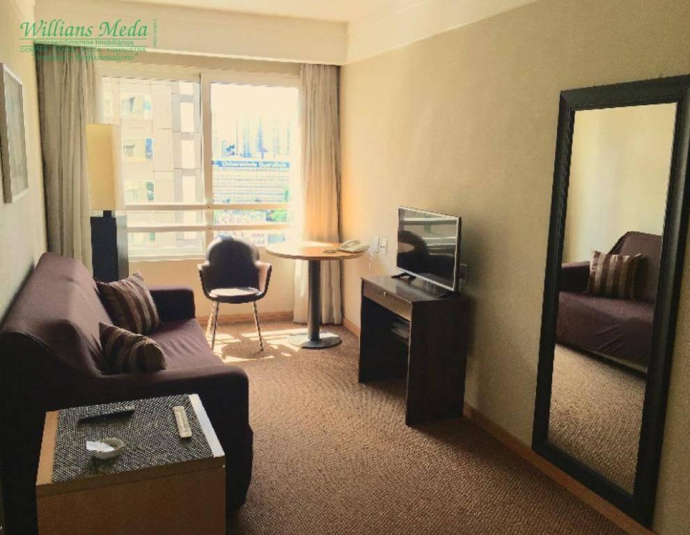 flat com 1 dormitório à venda, 35 m² por r$ 175.000 - centro - guarulhos/sp - fl0002