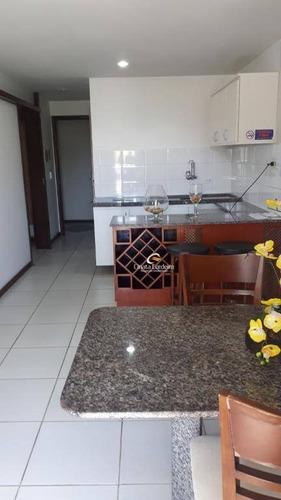 flat com 1 dormitório à venda, 50 m² por r$ 280.000,00 - cabo branco - joão pessoa/pb - fl0067