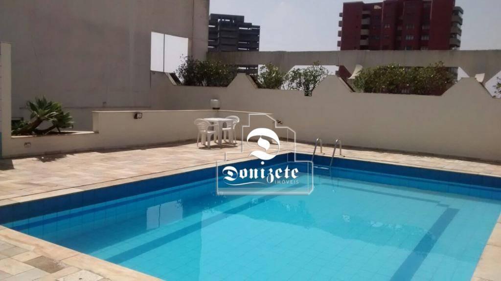 flat com 1 dormitório à venda, 52 m² por r$ 225.000 - centro - são bernardo do campo/sp - fl0031
