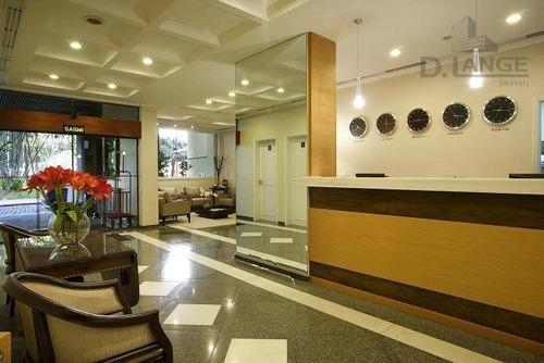 flat com 1 dormitório à venda, 60 m² por r$ 490.000 - centro - campinas/sp - fl0014