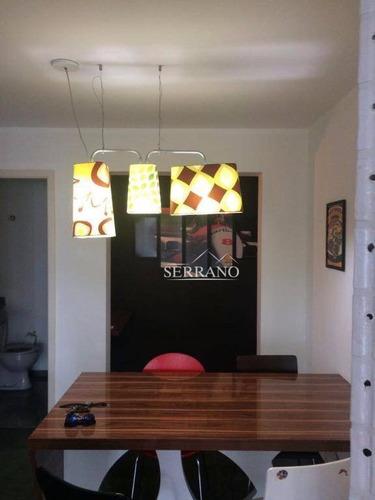 flat com 1 dormitório à venda, 70 m² por r$ 345.000 - cambuí - campinas/sp - fl0001