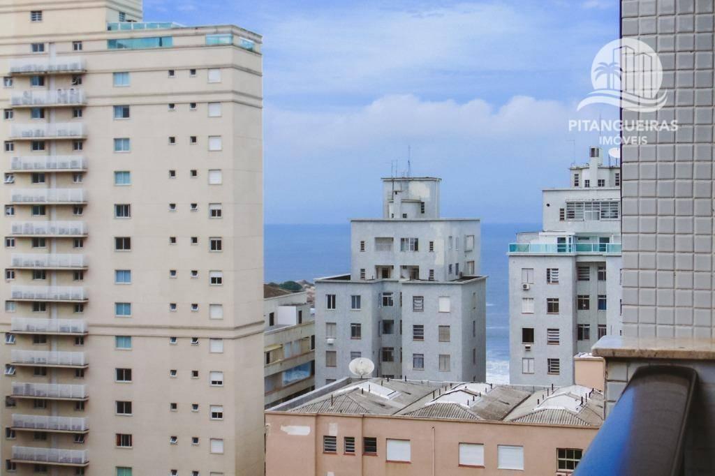 flat com 2 dormitórios à venda, 70 m² por r$ 490.000 - pitangueiras - guarujá/sp. - fl0096