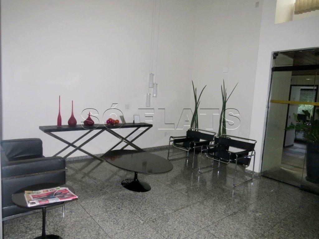 flat com cozinha completa, prox a av. ibirapuera e av. sto amaro - sf30516