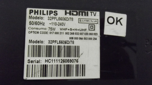 flat da tv philips 32pfl5606d/78