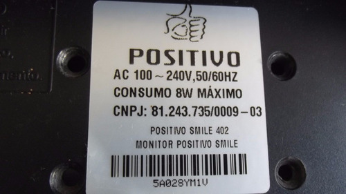 flat do monitor positivo smile 402