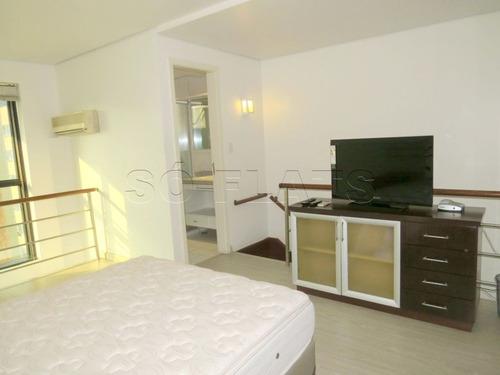 flat em moema duplex com todo conforto e comodidade. - sf25119