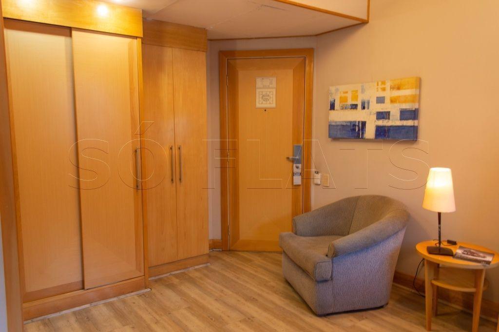 flat em tryp higienópolis com vaga de garagem para locação. - sf25597
