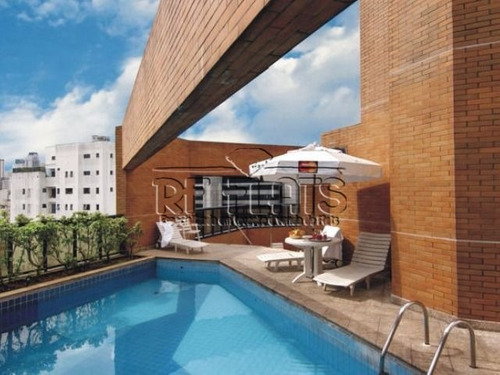 flat hampton park para locação e venda no jardins fora do pool