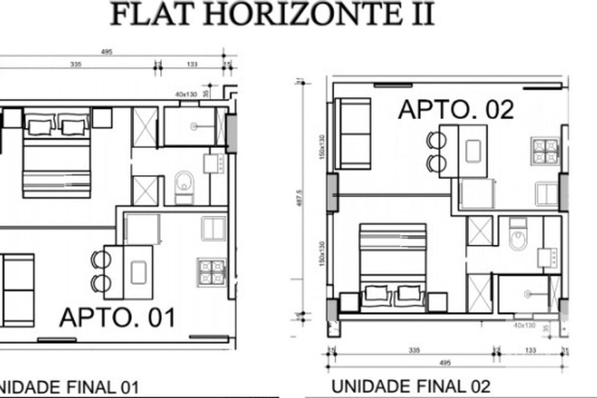 flat horizonte ii ; buritis ; excelente apartamento de 01 quarto de luxo com área privativa. - adr4437