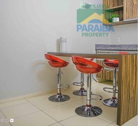 flat mobiliado beiramar  à venda - praia de cabo branco - joão pessoa - pb - fl0015