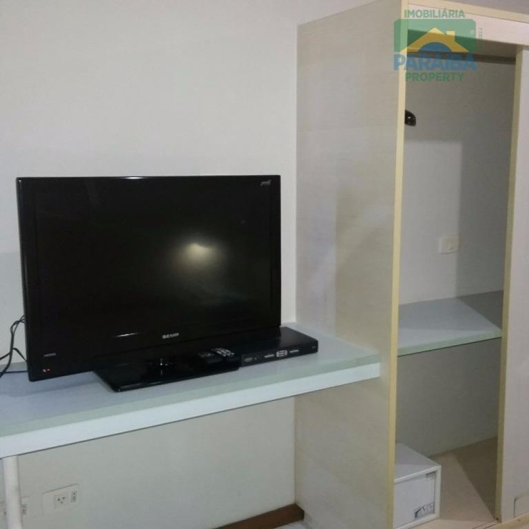 flat mobiliado à venda -  mobiliado -  cabo branco - joão pessoa - pb - fl0017