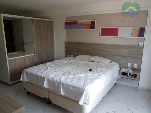 flat mobiliado à venda - praia do cabo branco -  joão pessoa - pb - fl0062
