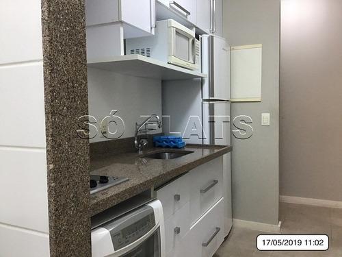 flat no itaim bibi alto padrão 1dormitório 2wc espaçoso 80m² - sf139