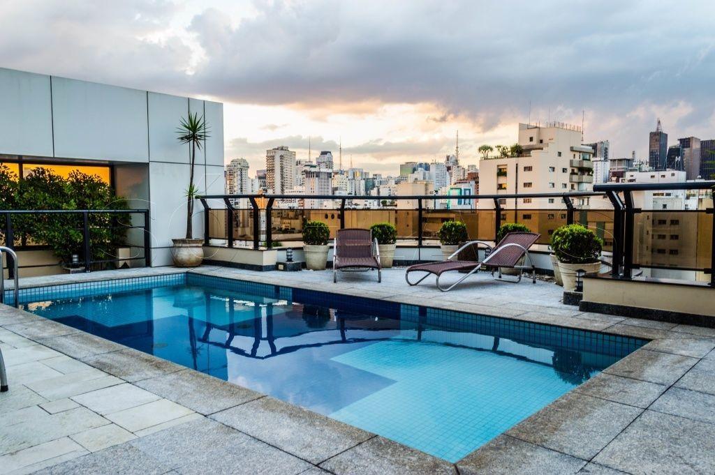 flat nos jardins, fora do pool, andar alto, para morar ou investir - sf27647