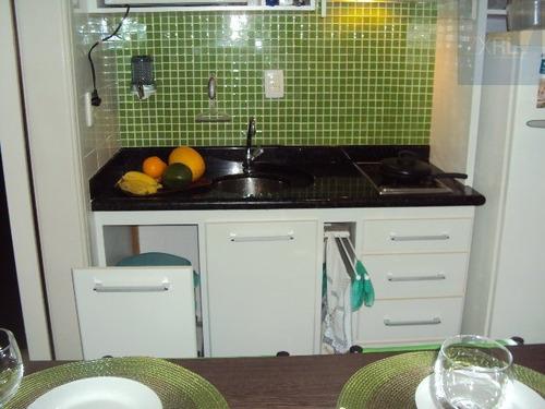 flat para alugar no bairro centro em são vicente - sp.  - 177-7156