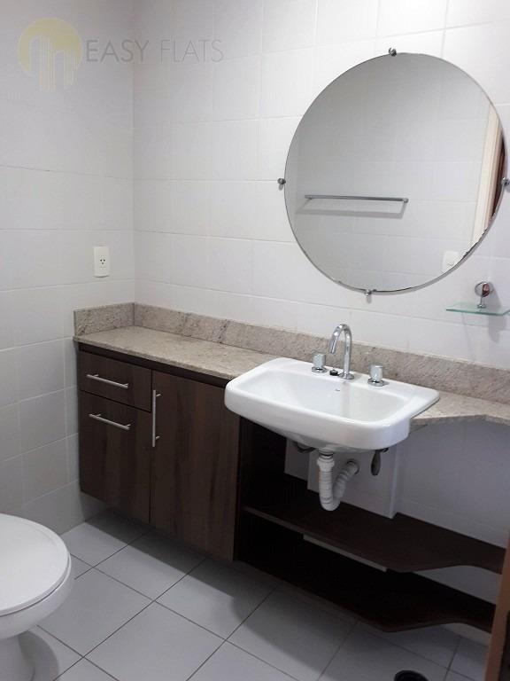 flat para aluguel, 1 dormitórios, cidade monções - são paulo - 1571