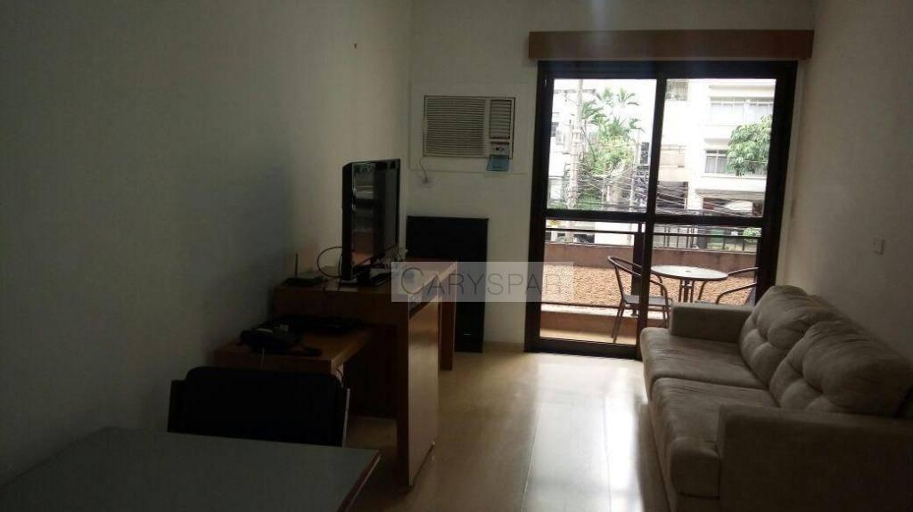 flat para venda com 1 dormitório e 1 vaga, 45 m² no jardim paulista - sp - fl3628