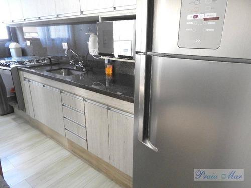 flat residencial para locação, centro, guarujá. - fl0089