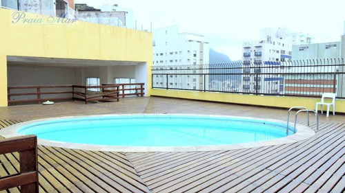 flat residencial para locação, centro, guarujá. - fl0119
