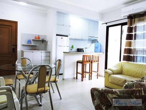 flat  residencial para locação, pitangueiras, guarujá. - fl0087