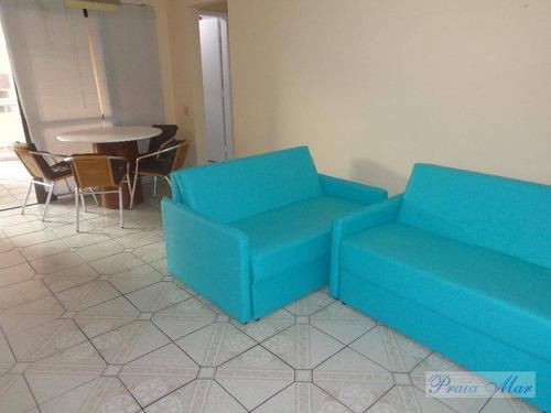 flat  residencial para locação, praia das pitangueiras, guarujá. - fl0091