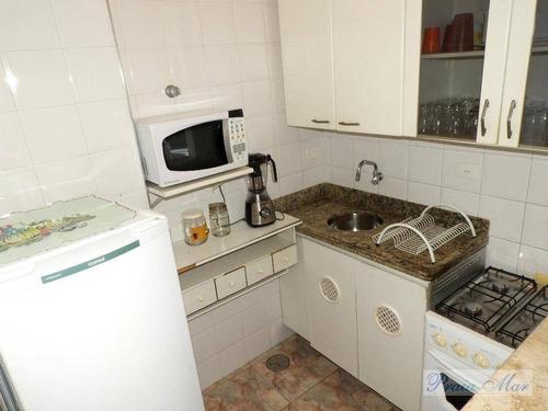 flat residencial para locação, praia pitangueiras, guarujá. - fl0111