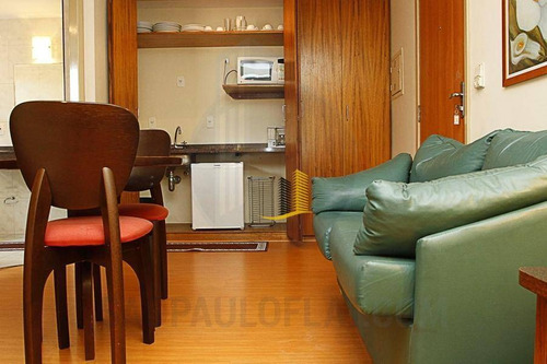 flat residencial para venda e locação, brooklin paulista, são paulo. - fl0065