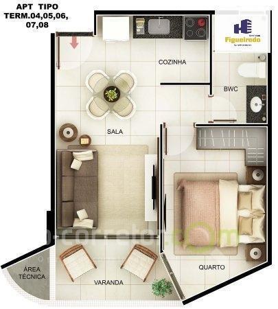flat residencial à venda, bessa, joão pessoa. - fl0043