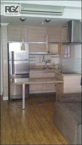 flat residencial à venda, boqueirão, santos - fl0024. - fl0024