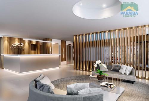 flat residencial à venda, cabo branco, joão pessoa. - fl0043