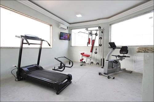 flat residencial à venda, gonzaga, santos - fl0006. - fl0006