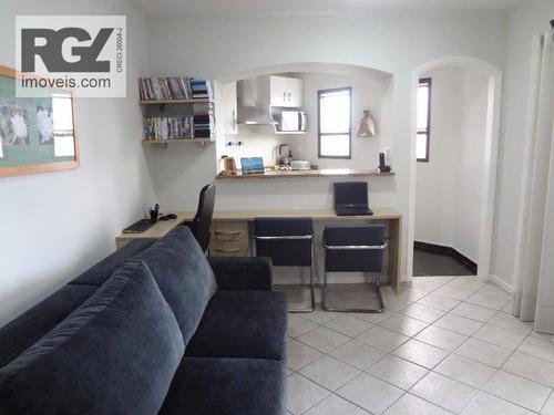 flat residencial à venda, gonzaga, santos. - fl0029