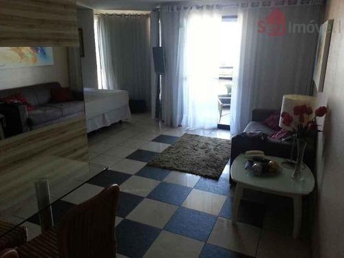 flat  residencial à venda, mucuripe, fortaleza. - fl0020